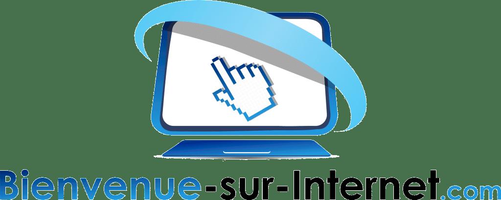 Bienvenue sur Internet logo noir