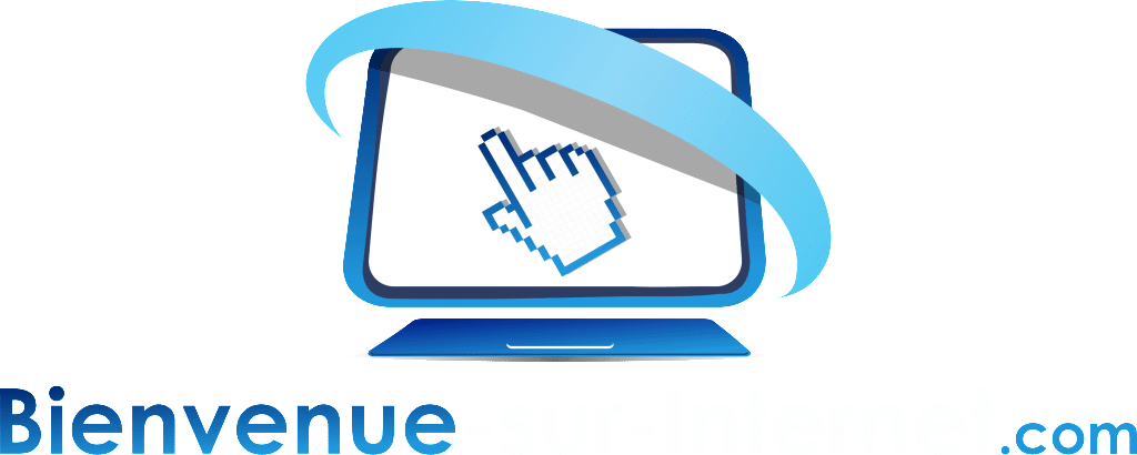 Bienvenue sur Internet logo blanc